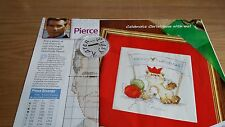 CROSS STITCH CHART CHRISTMAS SOLO THE CAT CHART & PIERCE BROSNAN CHART