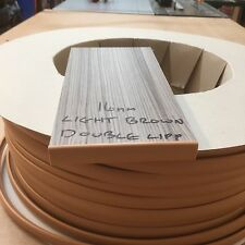 15MM T TRIM LIGHT BROWN TABLE TRIM 10 METRES FURNITURE KNOCK ON EDGING VW CAMPER