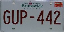 New Brunswick License Plate Kanada, Original Nummernschild GUP-442  ORIGINALSCAN