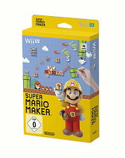 Nintendo Wii U Spiel: Super Mario Maker WiiU Artbook Edition Pal Ver. Neu & OVP
