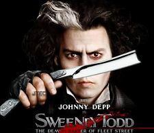 "10.5"" Johnny Depp Movie SWEENEY TODD Straight Stainless Steel Razor Knife"