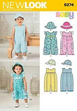 NEW LOOK SEWING PATTERN Babies' Romper and Hats SIZE NB - L 6274