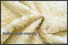 C161 DELUXE FAUX LAMBS SKIN SHEARLING STUNNING REALISTIC QUALITY MADE IN ITALY