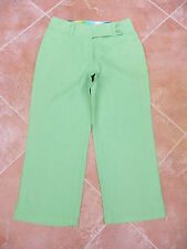 WOMENS PALE LIME LINEN CROPPED TROUSERS - PER UNA - 8 LONG - BNWT