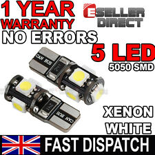 2x T10 501 W5W 5 SMD LED Interior Lighting Bulbs Xenon White Colour 6000K 12V