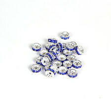 Jewelry Making 20pcs 8mm Plated silver crystal spacer beads FREE SHIPPING B&17