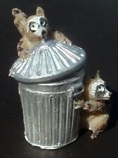 Two Raccoon's and Trash Can 1/32 Scale 1/24 Scale G Scale Diorama Accessory Item