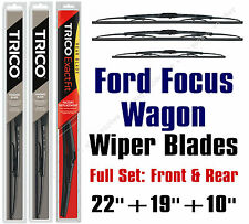2000-2007 Ford Focus Wagon Wiper Blades 3pk Front + Rear - 30221/30190/10-1
