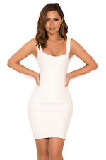 "HOUSE OF CB 'Adelise' White Vegan Leather Bustier Dress ""Faulty"" MM 7687"