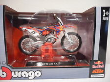 Moto KTM 450SX-F Red Bull Factory Racing  Burago 1/18