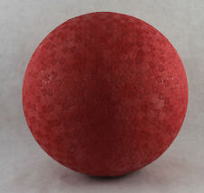 """NEW 8.5"""" Inch LOT OF 6 RED PLAYGROUND RUBBER DODGE BALLS KICK BALL FOURSQUARE"""