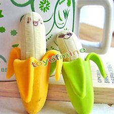 2PCs Banane Radiergummis Büro Spielzeug Farbe zufällig