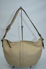 Coach Soho Beige Pebbled Leather Small Zip Hobo Purse 10908