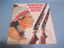 1979 SAVAGE ARMS CATALOG RIFLES SHOTGUNS ACCESSORIES AND PARTS