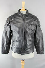 CLASSIC BRITISH MADE ANTAL LEATHERS BLACK BIKER JACKET 40 INCH