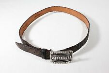 New Martin Dingman US Chocolate Brown Cayman Crocodile Monterey Belt Size 40 NWT