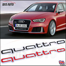 QUATTRO GRILL BADGE AUDI LATEST 2016 EMBLEM a1 s3 s4 a5 a7 rs3 rs4 rs5 sline q3b