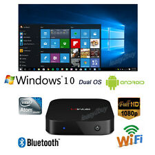 Smart TV Box Mini PC Intel Quad Core Dual OS Windows 10 & Android 4.4 2GB/32GB