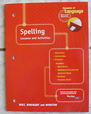 Holt SPELLING Lessons&Activities NEW workbook, Second Course gr. 8/8th 2nd C