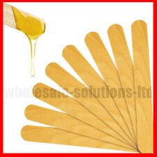 "100 x 6"" Inch Waxing Sticks Spatula Wax Stick Wood Smear Dipper Hair Removal"
