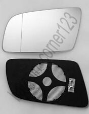 Left Passenger Side Wing Mirror Glass HEATED ASPHERIC  BMW 5 E60 E61 03-10