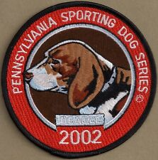 """Pa Pennsylvania Fish Game Commission Sporting Dogs 4"""" 2002 Beagle / Dog Patch"""