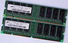 512MB (2 X 256MB) Assorted PC133 NON ECC 168 pin 3.3V low density SDRAM