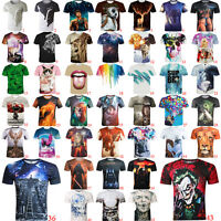 2016 Hot Patterned Printed Fashion Soft Top Thin Men's Funny Casual 3D T-Shirt