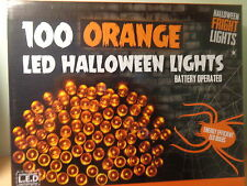 24FT spooky 100 orange led halloween lights/parti/prop/energy efficient