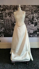 Genuine Pronovias Beaded Gown with Train, Wedding, Simply Stunning, RRP £1000+