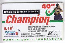 DOM-TOM  TELECARTE / PHONECARD  .. ILE MARTINIQUE 40F OUTREMER BOXE EM/PLI +N°