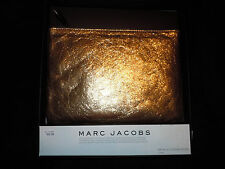 Marc Jacobs Neiman Marcus Gold Metallic Leather Pouch Clutch Bag NWT