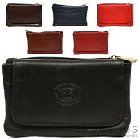 Ladies / Womens Small / Handy Soft Leather Coin / Money Holder / Purse