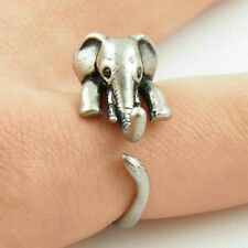 Cute Ladies/Child's Dainty Tibetan Antique Silver Adjustable Elephant Ring UK