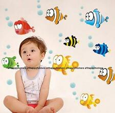 Ocean Fish Starfish Shell Clam Wall Stickers Art Undersea World Bathroom Nursery