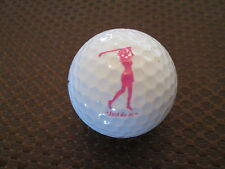 LOGO GOLF BALL-JUST DO IT!  PINK LADY GOLFING...WOODHILL COUNTRY CLUB...
