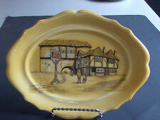 "Vtg 1929  L & Sons English Ware  Hanley  Serving Plate 10""  ""The Joley Drover"""