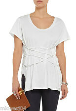 ISABEL MARANT White Theo brushed-cotton T-shirt Top New BNWT 12 FR 40 RRP £200