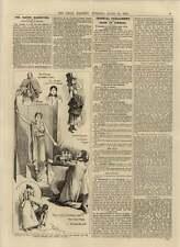 """1892 NUOVO COMMEDIA """"NIOBE tutti Smiles"""" Strand TEATRO Usher Sud HYLTON"""