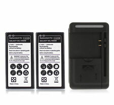 2x 3500mAh Replacement Battery + USB Wall Charger for Samsung Galaxy S5 i9600