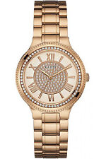 GUESS W0637L3,Ladies Dress,Stainless Steel,Rose-Tone,Crystal Accented Bezel