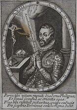 Antonius I. Dei gratia Rex Portugaliae XVIII ............... Portrait. Gravure o