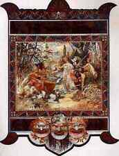 Metal Sign Alphonse Maria Mucha The Judgement Of Paris Calendar A4 12x8 Aluminiu