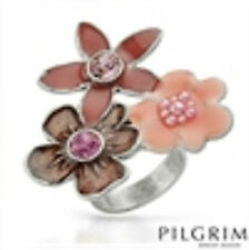 PILGRIM Skanderborg, Denmark Flower Ring in pinks Sz 6.5