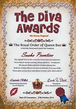 Diva Awards Certificate (A4 130gms Matt Photo paper) for girls of all ages