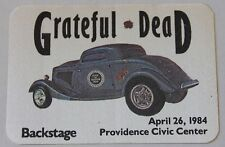 Grateful Dead Backstage Pass 4-26-84 Providence Civic Center