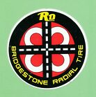 Bridgestone Tyres Advertising Stickers Vintage 1970s Good Unstuck Condition Rare