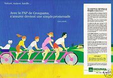 Publicité advertising 1990 (2 pages) Assurances Groupama par Garnier
