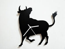 Rodeo Bull Silhouette - Wall Clock