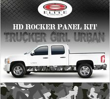 "Trucker Girl Urban Camo Rocker Panel Graphic Decal Wrap Truck SUV - 12"" x 24FT"